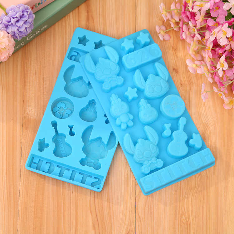 HEARTMOVE New DIY Cartoon Stitch Star Baby Silicone Cake Mold Chocolate Mold Handmade Soap Mold Pudding Ice Candy Baking Tool