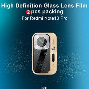 Image 5 - Imak Camera Lens Film Voor Xiaomi Redmi Note 10 Pro Achteruitrijcamera Len Gehard Glas Protector Beschermende