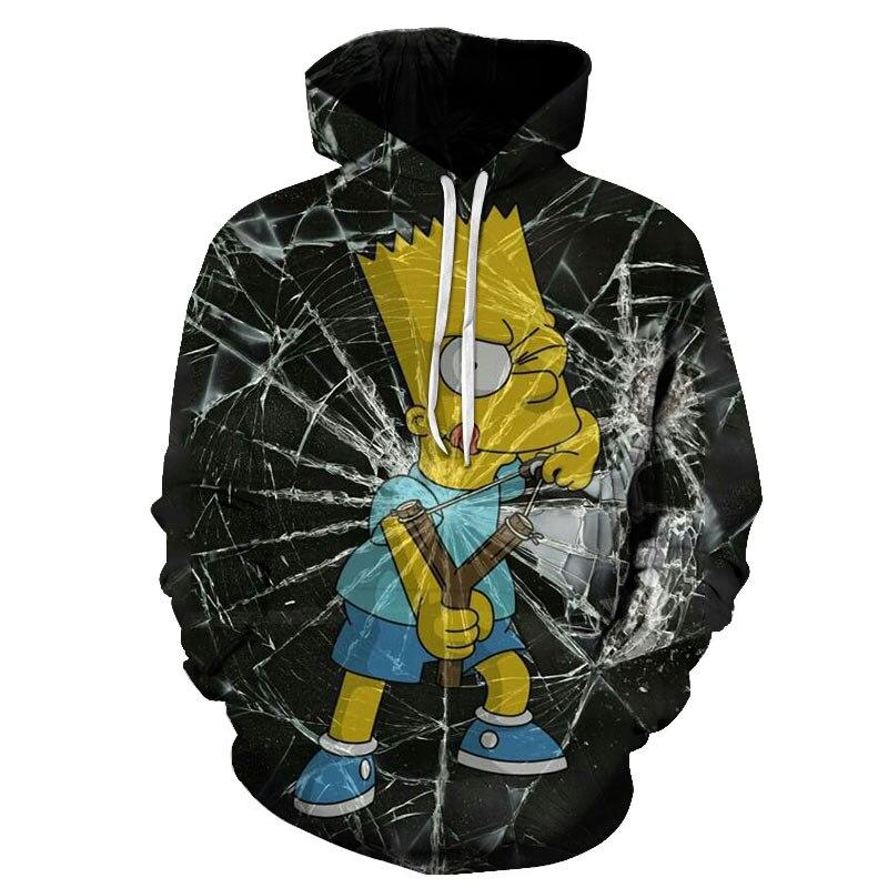 Simpson 3d Print Hoodies Fashion Men  Funny Sweatshirts Streetwear Hip Hop Quality Plus Size Autumn Winter Clothes