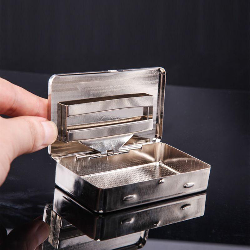Thin American Eagle Metal Cigarette Case Boxes Automatic Cigarette Tobacco Case