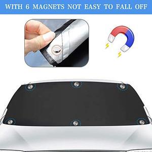 Image 3 - Capa de para brisa magnética para carro, capa anti congelamento para neve, para proteção contra o sol