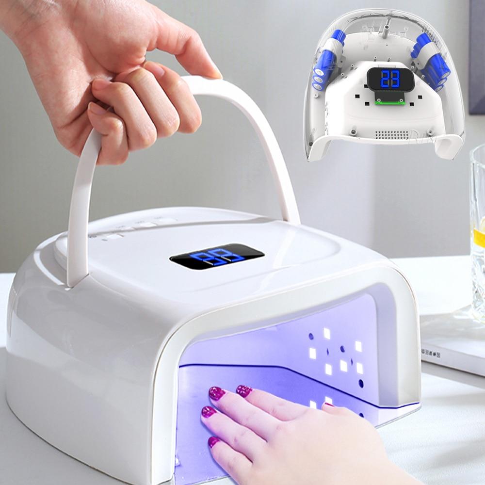 sem fio máquina de manicure conduziu a lâmpada da arte do prego