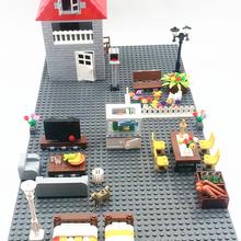Bricks Blocks City-Accessories Construction-Brick Moc-House City-Wall Door Window Dots