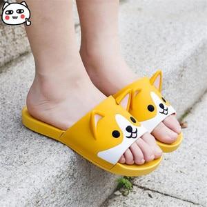 Image 2 - Super Cute Corgi Huskie Sandal Cartoon Original Cosplay Costumes Shoes Summer Lovers Soft Soled Japanese Home Slipper Nice Gift