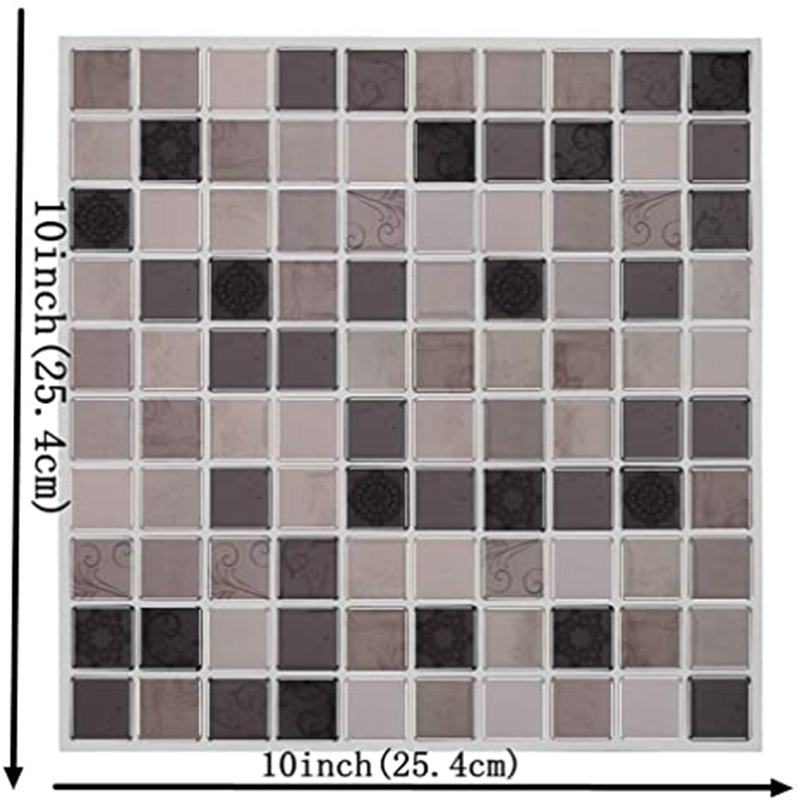 6-Sheet  PVC Square Decorative Vinyl Tile Decals ,Mosaic Decorative Tile Sticker Wall Decor, 3D  Wallpaper for Kitchen Bathroom