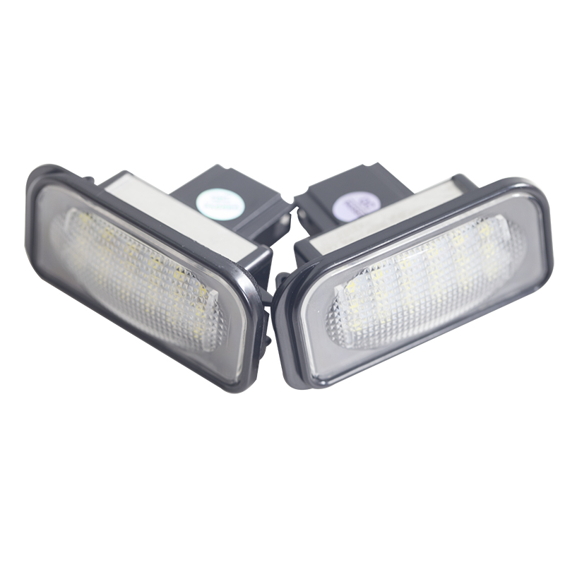 1 Pair Car For Mercedes Benz W211 W203 5D W219 R171 12V LED License Plate Lights Bulb No Error White Number Plate Lamp in Signal Lamp from Automobiles Motorcycles