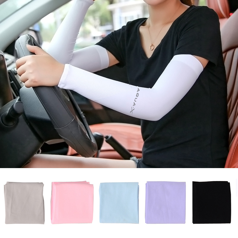 Safety 2Pcs Arm Sleeve Warmers Glove Sun UV Protection Cooling Cover Sleeves Arm Warmer Running Golf Cycling Arm Long Sleeve