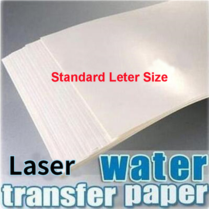 Printing Paper Letter Size Water Slide Decal Paper Laser Transparent No Need Varnish Printable Waterslide Decals for Cup Tumbler