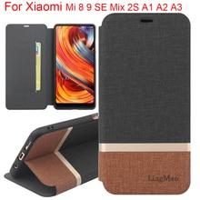 For Xiaomi Mi 9 8 SE lite case flip Cover Silicone