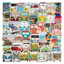 50 pçs pacote retro hippies adesivos amor e paz ônibus adesivos para carro portátil bagagem skates diário papelaria decalque adesivo