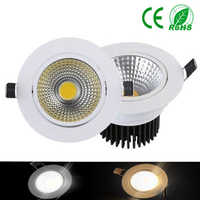 COB Led Downlight Dimmable 5W 24W Recessed led Lights 220V Cellular reflector LED Down light Spot Lamp Home Decor