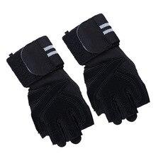 Перчатки для фитнеса, нажим на половину пальца, для тренажерного зала, противоскользящие, амортизирующие, Deadlift power