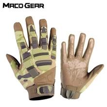 Мужские тактические перчатки тактическая перчатка Мультикам камуфляжная армейская Военная Боевая страйкбольная велосипедная наружная походная стрельба Пейнтбол Охота полный палец перчатка