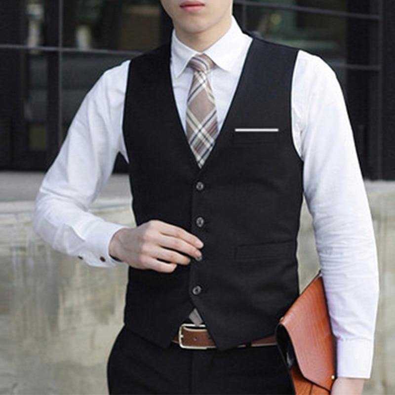 Plus Size Mens Formal Business Slim Fit Dress Vest Suit Tuxedo Waistcoat Tops