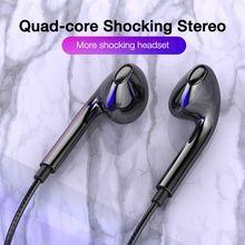 3,5mm Wired Kopfhörer Mit Bass Ohrhörer Stereo Kopfhörer Musik Sport Gaming Headset Mit mic Für Xiaomi IPhone 11 Kopfhörer