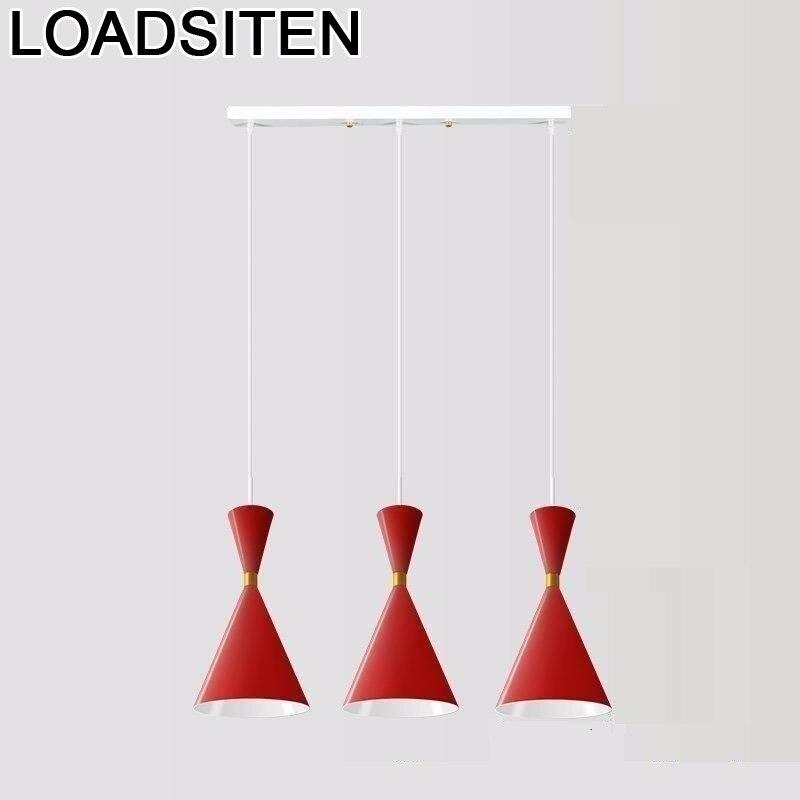 De Techo Cuisine Nordic Lustre Kitchen Pendant European Modern Light Deco Maison Suspendu Suspension Luminaire Hanging Lamp