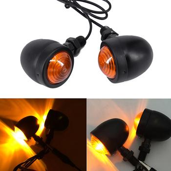 2 sztuk retro wygląd czarny 100 nowe i wysokiej jakości metalowe Motorcycle Cafe Racer z kolei wskaźnik sygnału światła lampy tanie i dobre opinie LITAKE Turn Signal Turn Signal Light