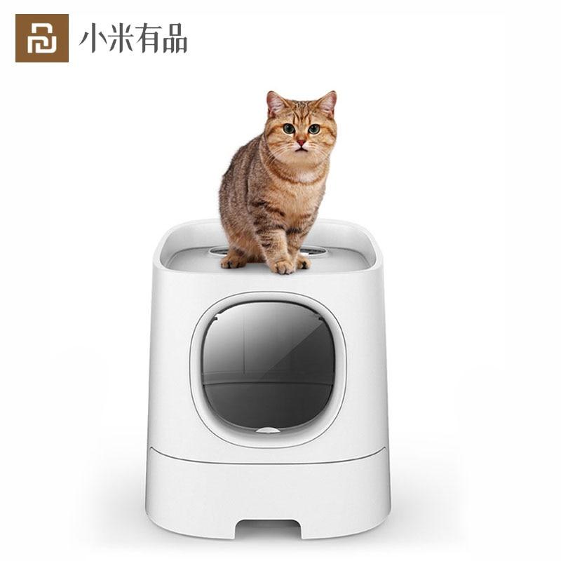 youpin homerun gato caixa de areia totalmente fechado automatico desodorizante gato toalete suprimentos para animais de
