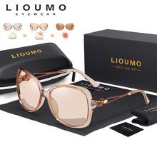 LIOUMO Fashion Oversized Sunglasses Women 2020 Chameleon Sun Glasses Female Polarized Photochromic Eyewear UV400 zonnebril dames
