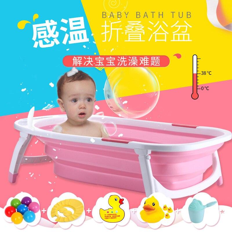 Di bang nouveau Style infantile pliant bébé Extra-large baignoire épaisse nouveau-né boîte fauteuil soins
