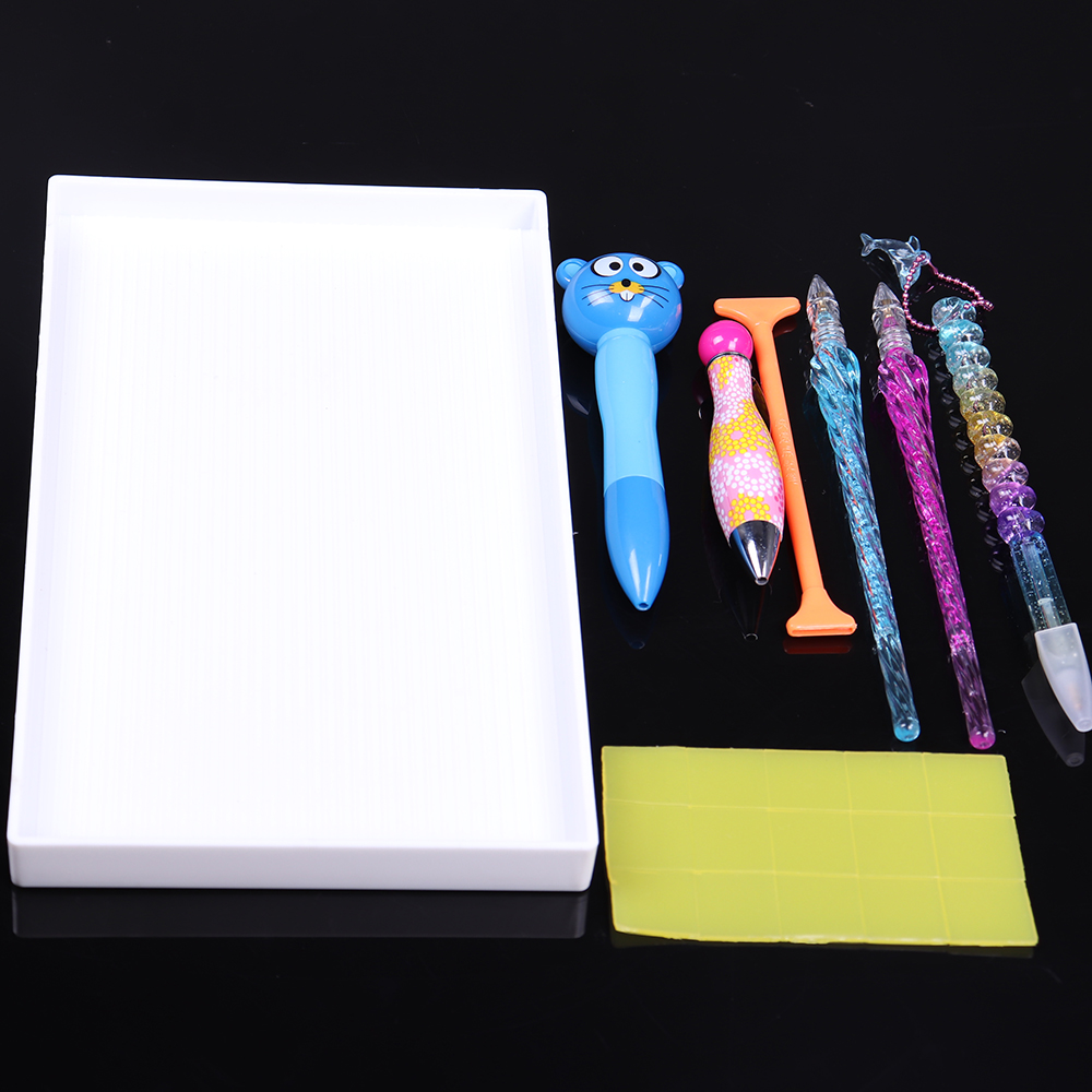 7 шт набор алмазная живопись коробка для хранения инструменты