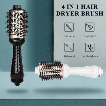 Electric Hair Brush One Step Hair Dryer Styler Brush Hot Air Iron Hair Straightener Comb Automatic Wave Formers Hair Curler 1