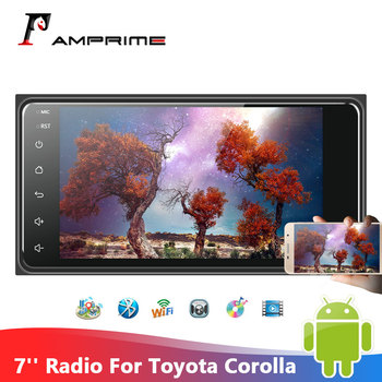 AMPrime 2 Din Car Stereo Radio 7 Android Car Multimed Player GPS Wifi Autoradio Bluetooth For Corolla GPS Corolla Auto Stereo image