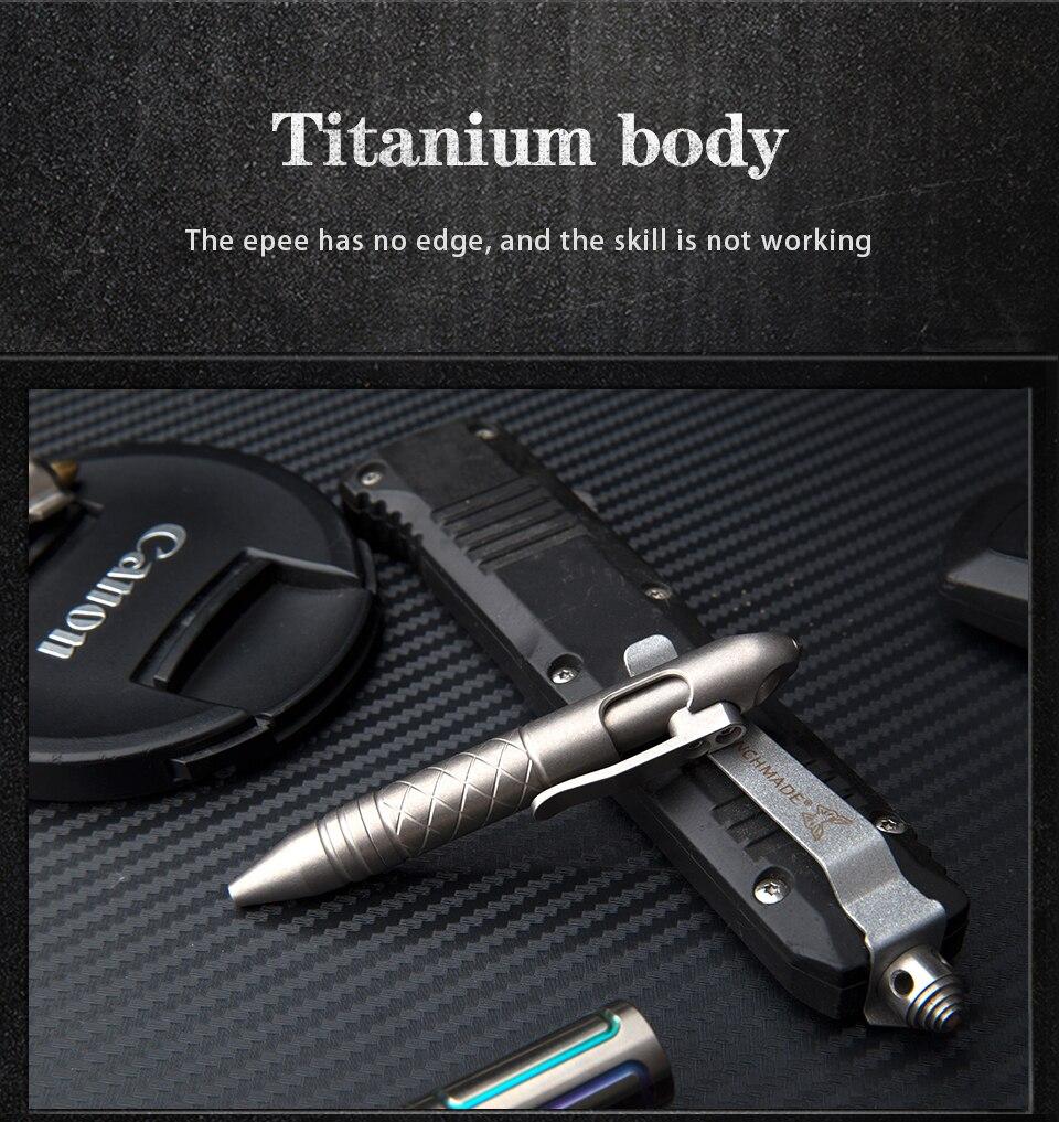 Liga de titânio funcional tático caneta janela