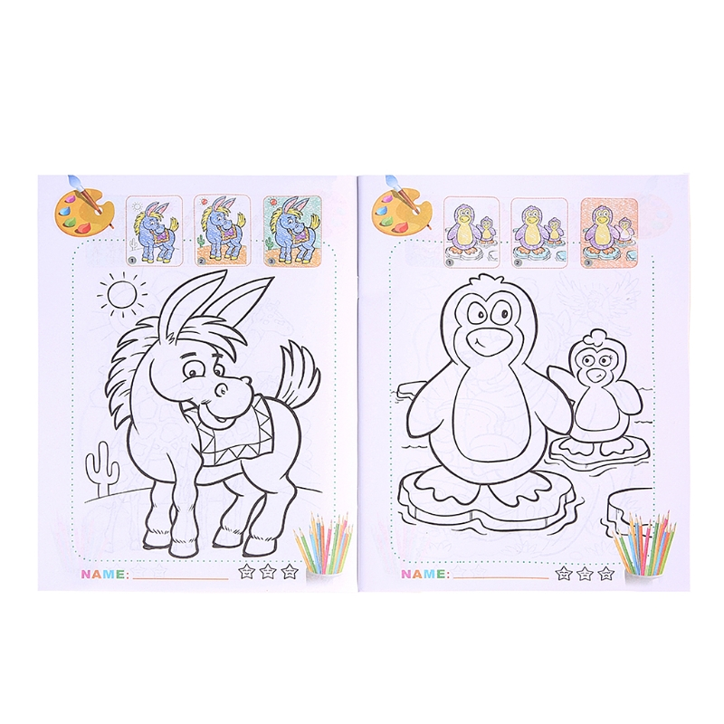 Creative Animal Kingdom Coloring Book Painting Graffiti For Children Education