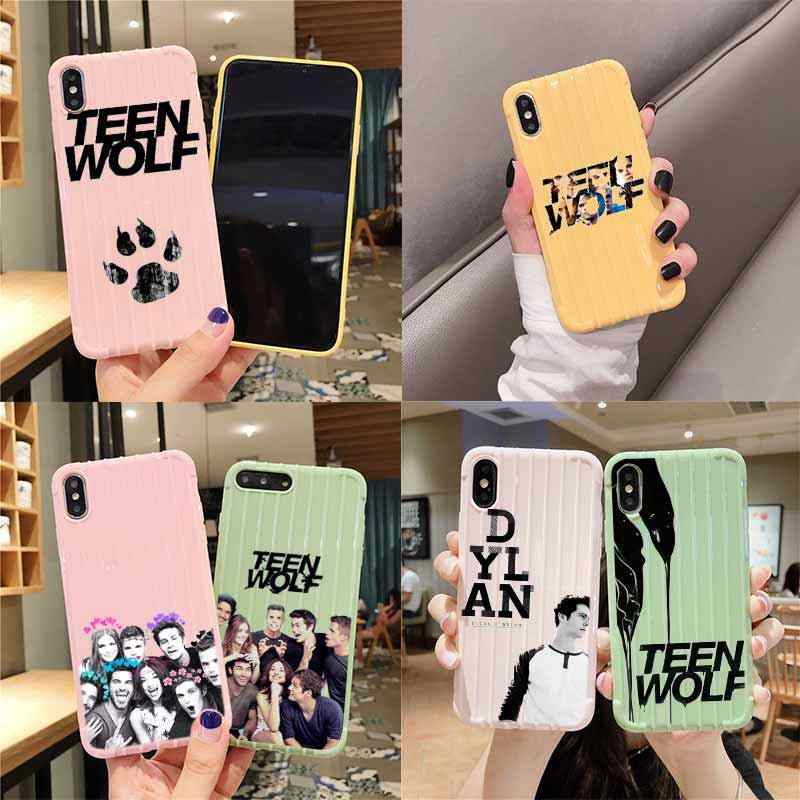 Teen Wolf Dylan Obrien Trolley Koffer Textuur Telefoon Case Iphone 11 Pro Max X Xs Max 8 7 6S plus Leuke Candy Kleur Behuizing