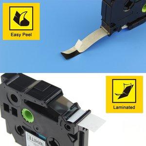 Image 5 - 10 pcs Compatible for brother label tape Tze 231 Tze231 tze 231 P touch label printer Ribbon label maker 12mm*8m Black on white
