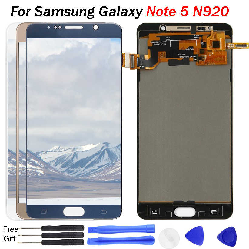 Per Samsung Galaxy NOTE 5 Display LCD N920 N920F Display Touch Screen Digitizer Assembly Note5 Sostituire TFT Per SAMSUNG NOTE5 LCD