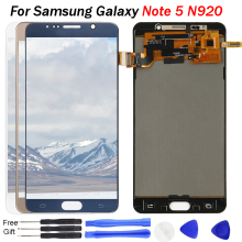 For Samsung Galaxy NOTE 5 LCD Display N920 N920F Touch Screen Digitizer Assembly Note5 Replace TFT SAMSUNG NOTE5