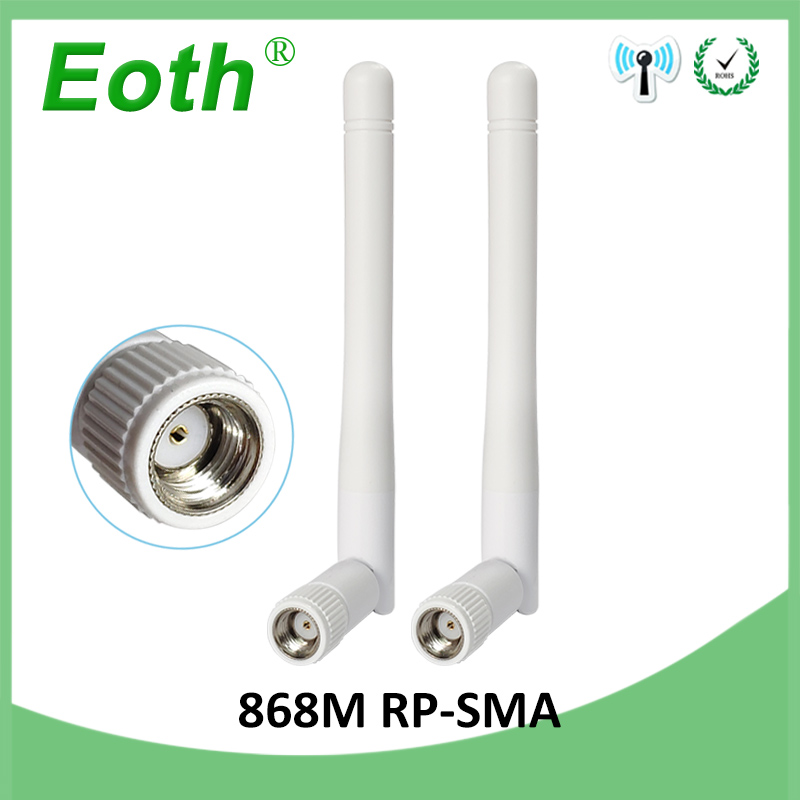 2pcs 868MHz 915MHz Antenna 3dbi RP-SMA Connector GSM Antena Straight 868 MHz 915 MHz Antenne For Gsm Signal Repeater Lorawan