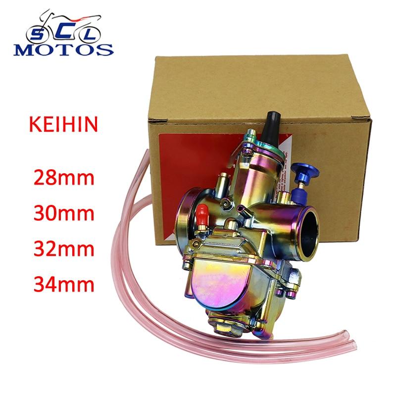 Sclmotos-carburateur de moto Keihin PWK carburateur 28mm 30mm 32mm 34mm carburateur coloré avec moto