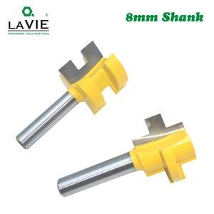Image 3 - LA VIE 2 adet 8MM Shank t yuvası kare diş Tenon freze kesicisi oyma bıçağı freze uçları ahşap aracı ağaç İşleme MC02140