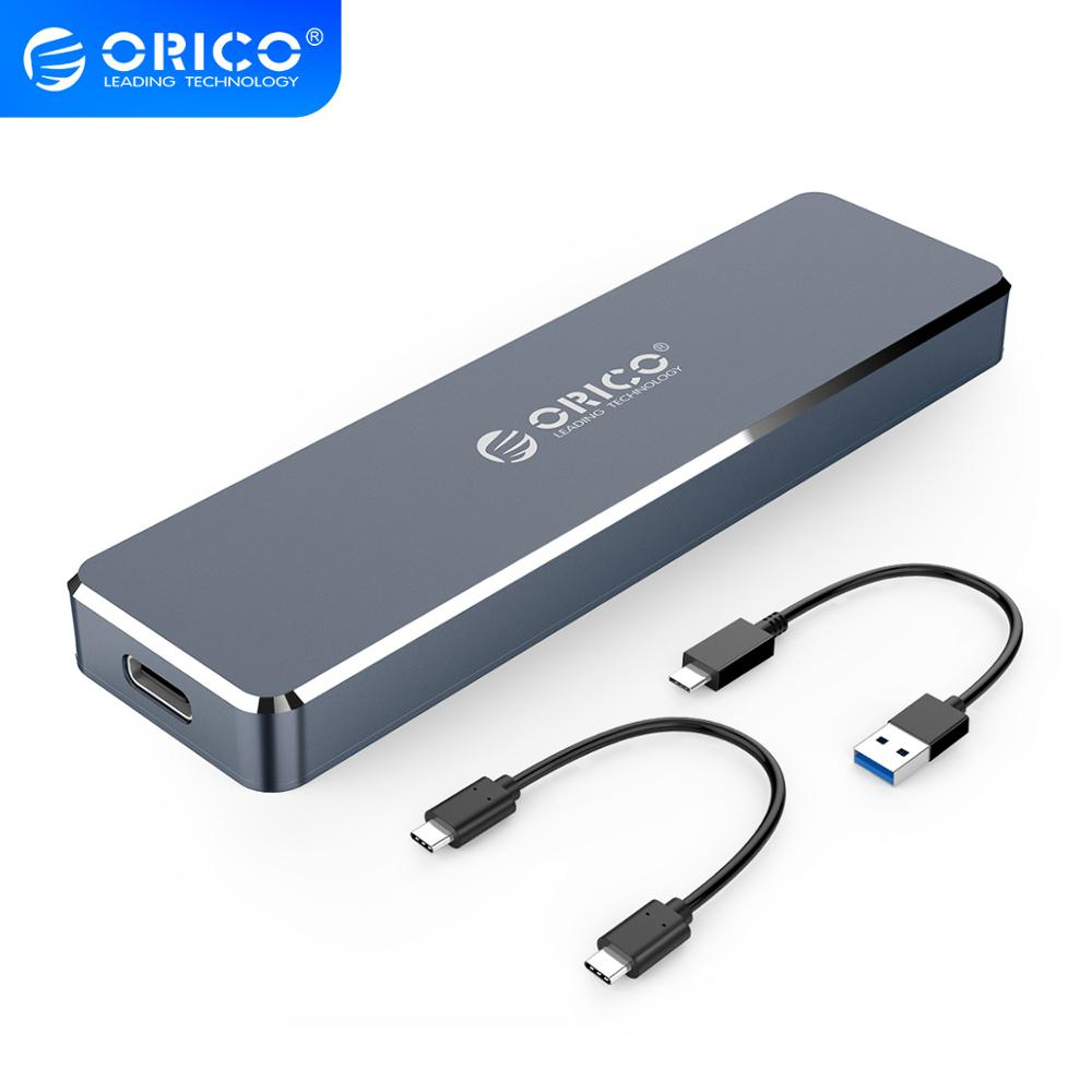 ORICO M 2 SSD Case NVME Enclosure for NVME PCIE NGFF SATA M B Key SSD Disk SSD Hard Disk Cases M 2 to USB Type C 3 1 With Cable