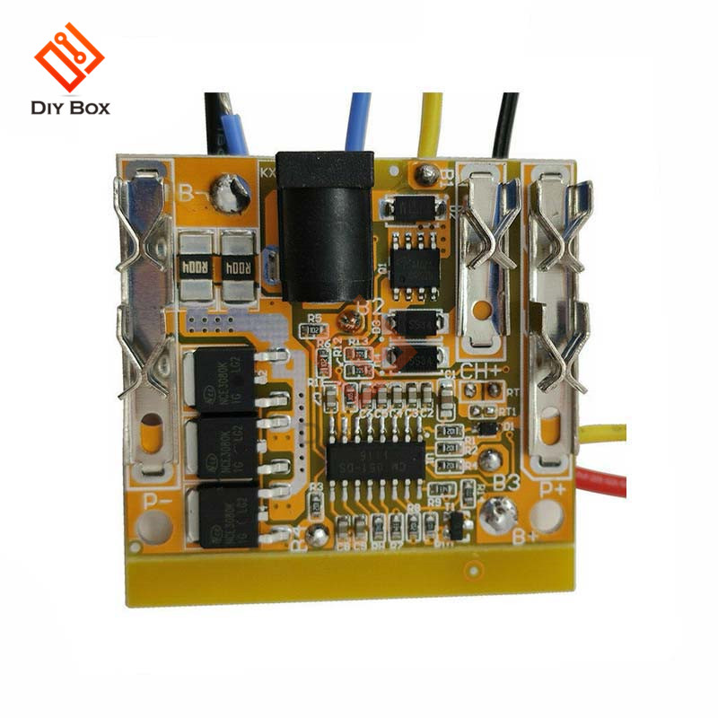 BMS <font><b>5S</b></font> 18.5V 18A <font><b>18650</b></font> Lithium Battery <font><b>Protection</b></font> Board PCB Circuit Power Bank Charger for DC Electric Drill image