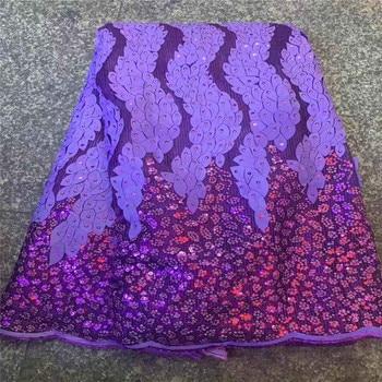 NEW Fashion design 5yards Purple color hand made print glitter tulle dress fabric for wedding dress/evening dress/part RoyalBlu