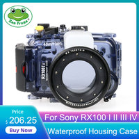 For Sony RX100 I II III IV Digital Camera Diving Case Underwater Waterproof Housing Case Transparent Waterproof Cover