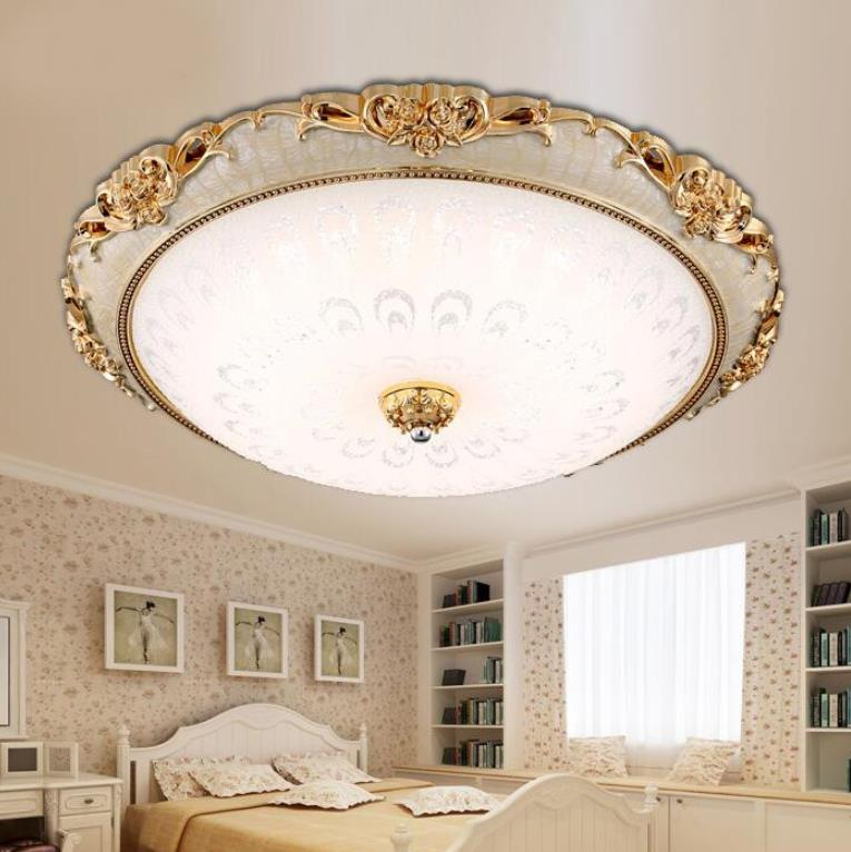 LED Modern Acryl Round glass lampshade Ceiling Lights Lighting Fixture European Lamp Living Room Bedroom Kitchen Surface Mount