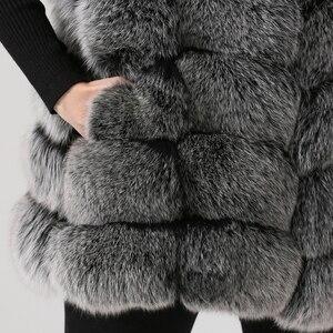 Image 5 - QIUCHEN PJ19035 2020 Nuovo arrivo reale della pelliccia di fox delle donne di inverno di modo della maglia della maglia di Trasporto libero caldo di vendita di spessore pellicce