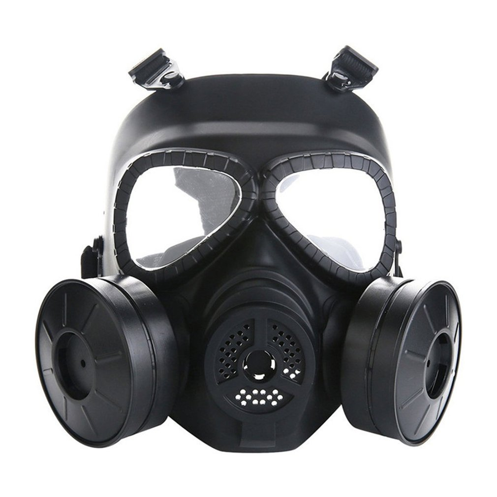 Gas Mask Lightweight Design Outdoor Defence Fog Bring Fans Antigas Mask Full Face CS  Field    Army Riding Mask
