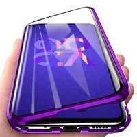 Funda magnética para huawei nova 5 t 5 t t5 yal-l21 funda de teléfono de doble cara de vidrio honor 20 pro funda nova 5T Metal adsorción fundas
