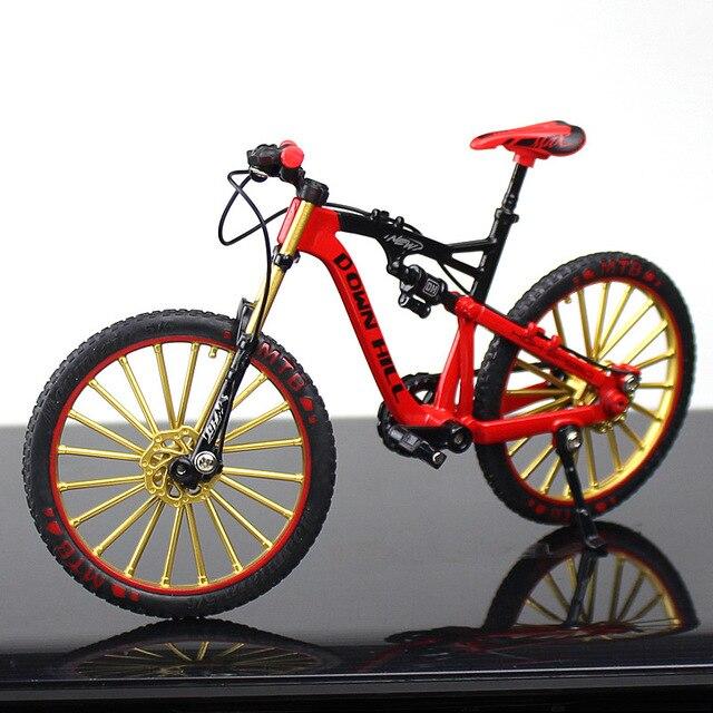 Mini vélo en alliage, métal moulé, jouet de course à courber, de Collection, de Simulation de route, pour enfants VTT