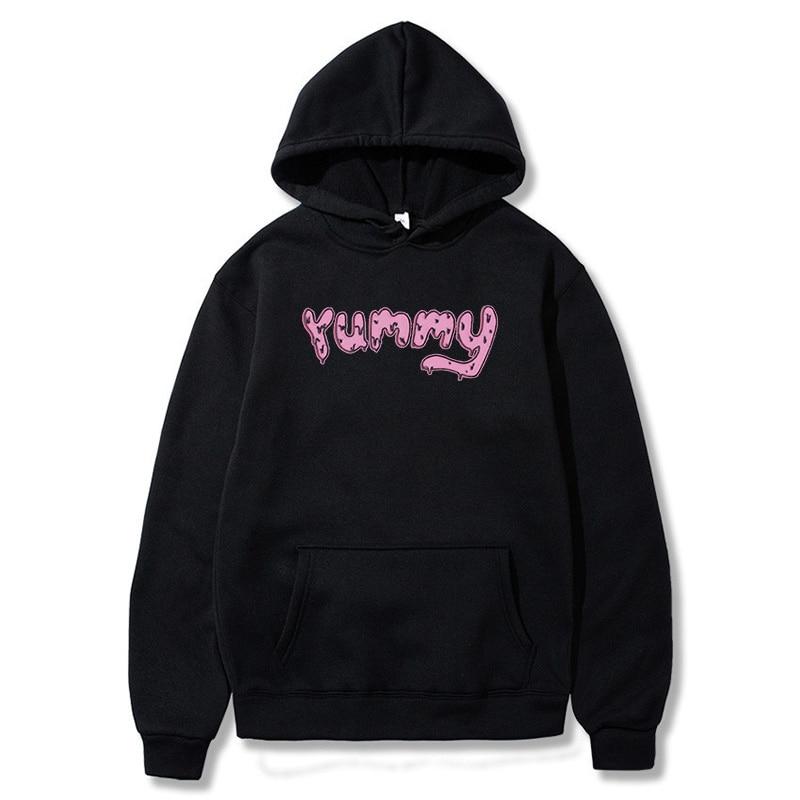Justin Bieber Hoodies Yummy Pink Men Women Hiphop Smile Cute Sweater Shirt