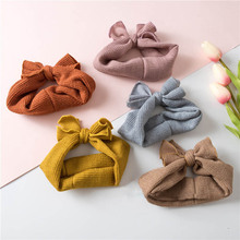 Fashion Autumn and Winter Childrens Tiara Wild Bow Hair Band Elastic Warhead with Female Baby Headband