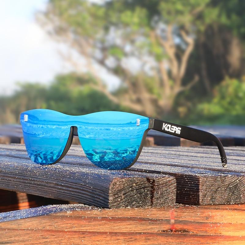 KDEAM Eye-Poping Color UV400 Polarized Sunglasses Men PA12 Plastic Titanium Women's Glasses Sports Gafas De Sol