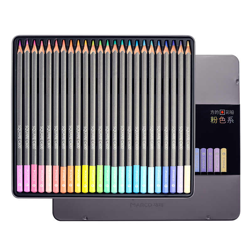 Andstal Marco 12/24 สีพาสเทลปลอดสารพิษดินสอสี lapis de cor Professional ดินสอสีสำหรับอุปกรณ์สำหรับโรงเรียน