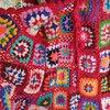 Nepalese Hand-Made Wool Hippie Crochet Box Stitching Ethnic Sweater Red Fringe Cardigan Long Coat 5